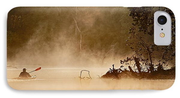 Cutting Through The Mist IPhone Case by Robert Charity