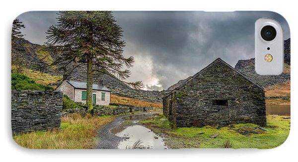 IPhone Case featuring the photograph Cwmorthin Slate Ruins by Adrian Evans