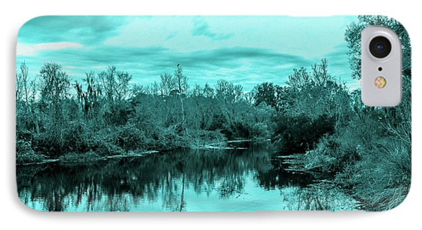 IPhone Case featuring the photograph Cyan Dreaming - Sarasota Pond by Madeline Ellis