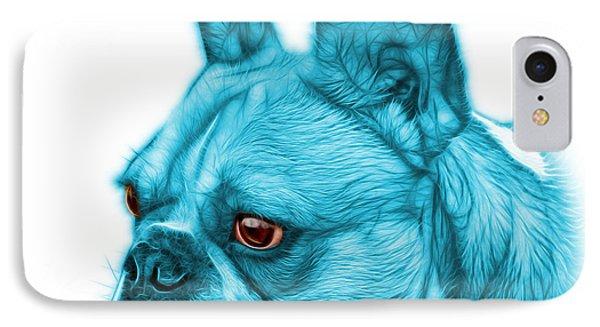 Cyan French Bulldog Pop Art - 0755 Wb IPhone Case by James Ahn