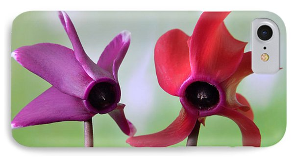 Cyclamen Duet. IPhone Case by Terence Davis