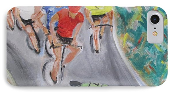 Cycling By The Ocean IPhone Case