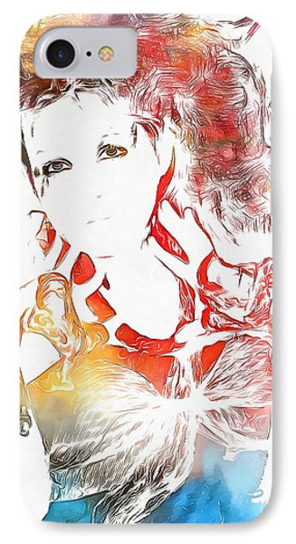 Cyndi Lauper Watercolor IPhone Case