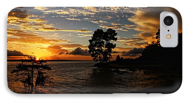 Cypress Bend Resort Sunset IPhone Case by Judy Vincent