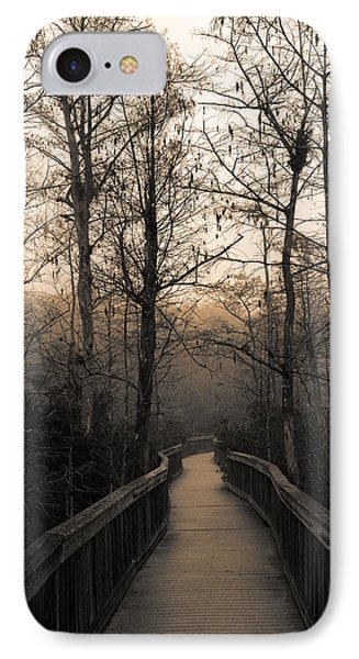 IPhone Case featuring the photograph Cypress Boardwalk by Gary Dean Mercer Clark