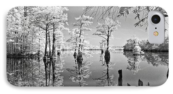 Cypress In Walkers Mill Pond IPhone Case by Bob Decker
