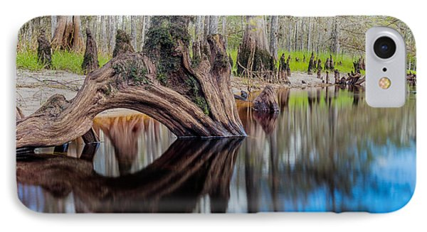 Cypress Knee In Fisheating Creek IPhone Case by Andres Leon