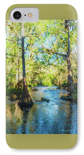 Cypress Trees On The River IPhone Case by Marvin Spates