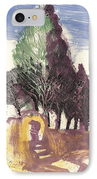 Cypresses Bonnieux IPhone Case by Martin Stankewitz