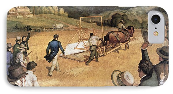 Cyrus H Mccormick And His Reaping Machine IPhone Case by Newell Convers Wyeth