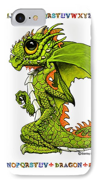 IPhone Case featuring the digital art D Is For Dragon by Stanley Morrison