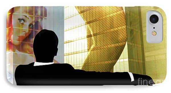 Don Draper, Mad Men, Includes Gil Elvgren Image ,sterling Cooper Pryce, Minimalist Graphic Design. IPhone Case