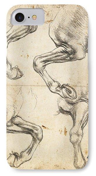 Da Vinci Horse Leg Study By Da Vinci IPhone Case by Tony Rubino