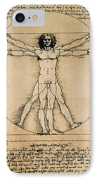 Da Vinci Rule Of Proportions Phone Case by Science Source