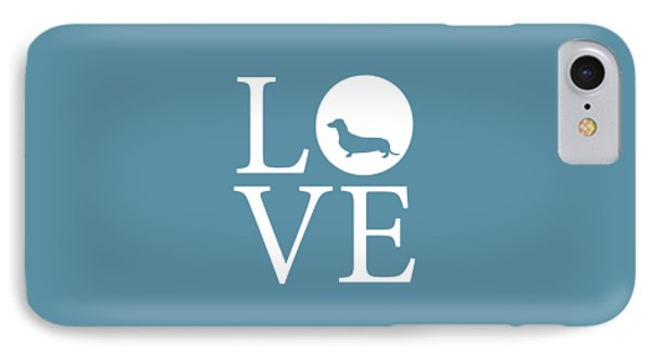 Dachshund Love IPhone Case by Nancy Ingersoll