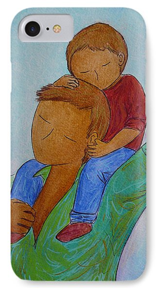 Daddy And Me IPhone Case by Gioia Albano