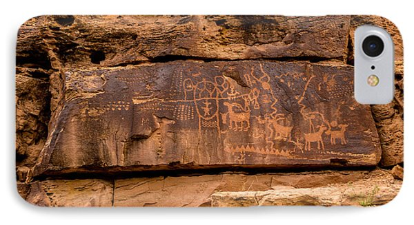 Daddy Canyon Petroglyph - Nine Mile Canyon - Utah IPhone Case by Gary Whitton