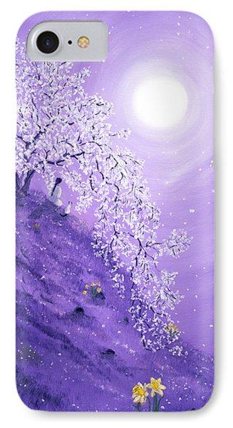 Daffodil Dawn Meditation Phone Case by Laura Iverson