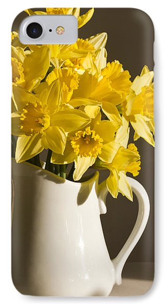 Daffodil Filled Jug Phone Case by Sandra Foster