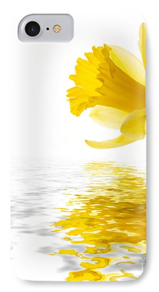 Daffodil Reflected Phone Case by Jane Rix