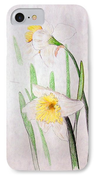 Daffodils IPhone Case by J R Seymour