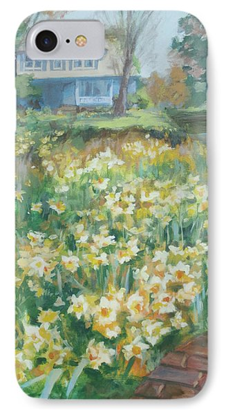 Daffodils On The Corner Phone Case by Carol Strickland