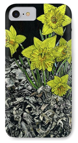 Daffodils Phone Case by Robert Goudreau