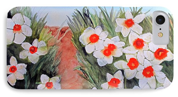 IPhone Case featuring the painting Daffodils by Sandy McIntire