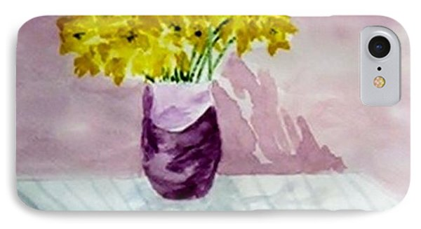 IPhone Case featuring the painting Daffs by Jamie Frier