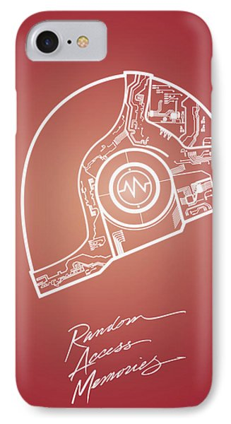 Daft Punk Guy Manuel Poster Random Access Memories Digital Illustration Print IPhone Case