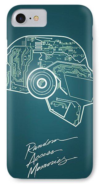 Daft Punk Thomas Poster Random Access Memories Digital Illustration Print IPhone Case