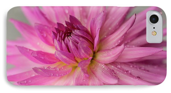 IPhone Case featuring the photograph Dahlia After The Rain by Mary Jo Allen
