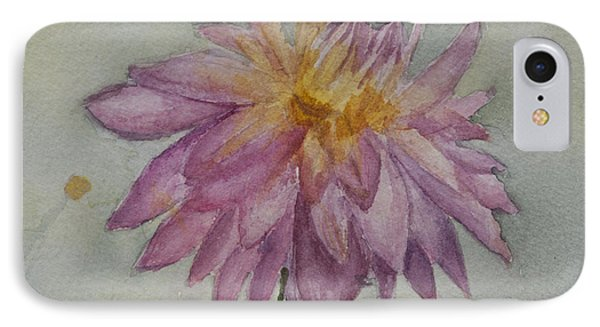 IPhone Case featuring the painting Dahlia At Eastport Me by Donna Walsh