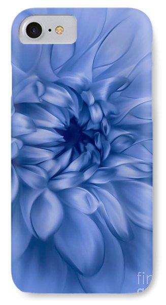 Dahlia Cyanotype IPhone Case by John Edwards