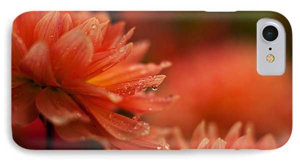 Dahlia Rainshower Phone Case by Mike Reid