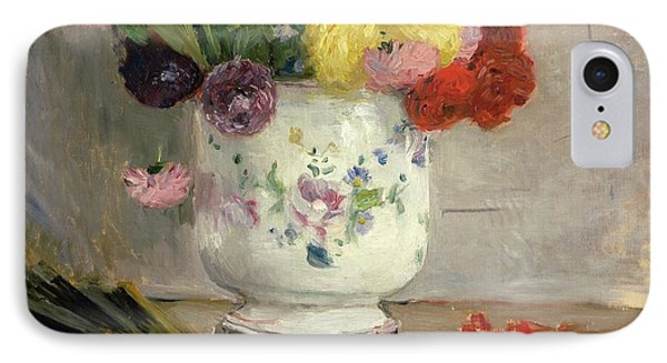 Dahlias IPhone Case by Berthe Morisot