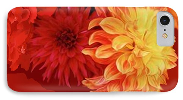 Dahlias Phone Case by Corey Ford
