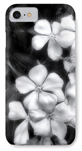 IPhone Case featuring the photograph Dainty Blooms - Black And White Photograph by Ann Powell