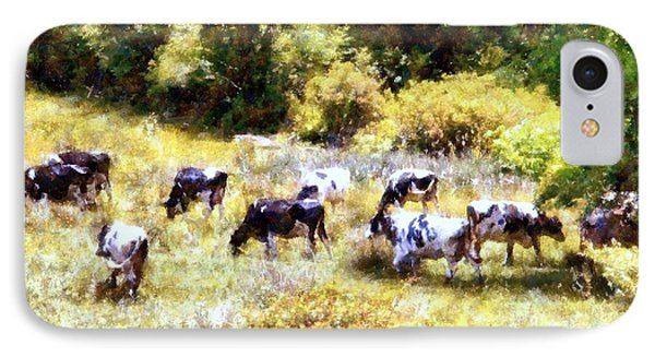 Dairy Cows In A Summer Pasture Phone Case by Janine Riley