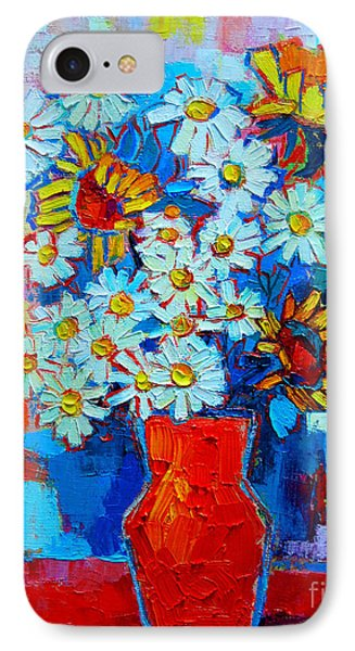 Daisies And Sunflowers Phone Case by Ana Maria Edulescu