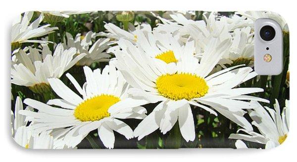 Daisies Floral Landscape Art Prints Daisy Flowers Baslee Troutman Phone Case by Baslee Troutman