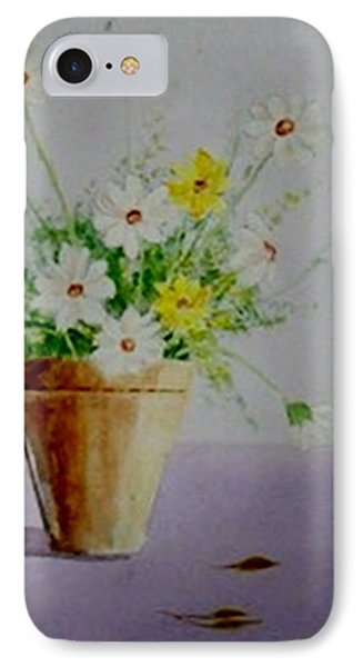 Daisies In Pot IPhone Case by Jamie Frier
