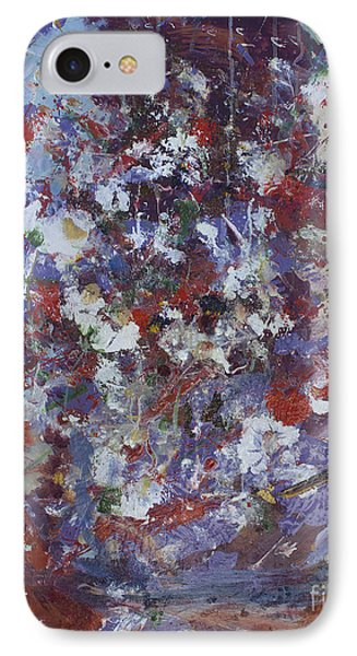 IPhone Case featuring the painting Daisies In Purple by Avonelle Kelsey