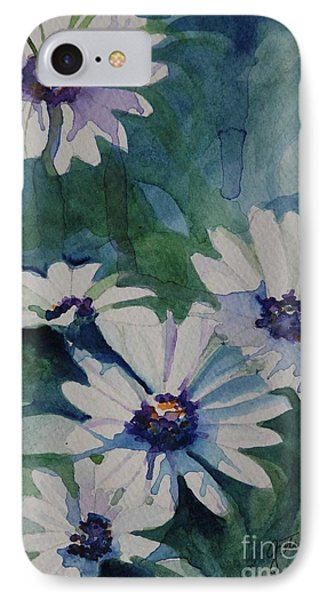 Daisies In The Blue Phone Case by Gretchen Bjornson