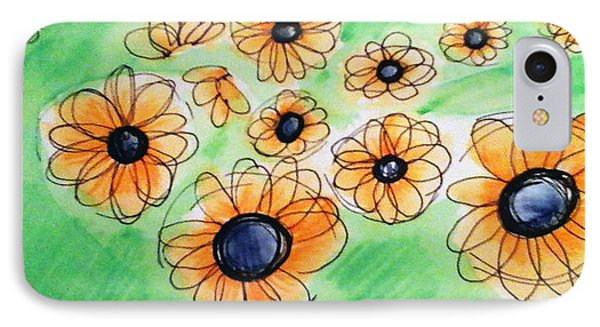 Daisies IPhone Case by Loretta Nash
