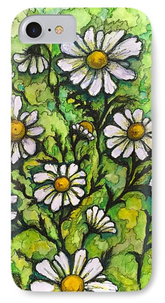 IPhone Case featuring the painting Daisies by Rae Chichilnitsky