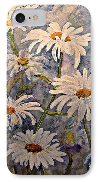 Daisies Watercolor IPhone Case by AmaS Art