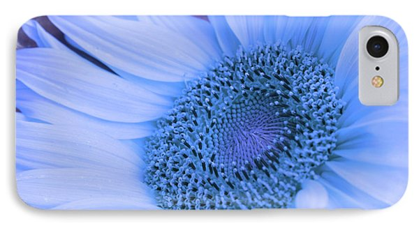 Daisy Blue IPhone Case by Marie Leslie