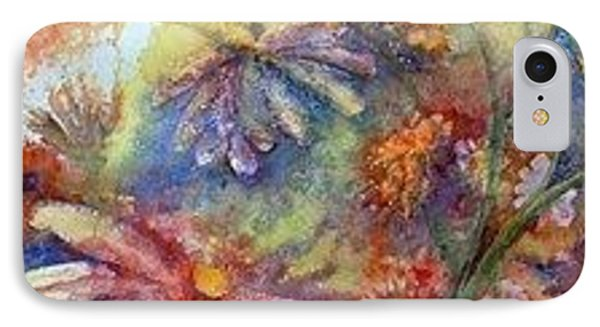 IPhone Case featuring the painting Daisy Blues by Renate Nadi Wesley