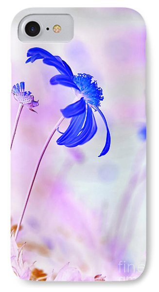 Daisy In Blue Phone Case by Kaye Menner